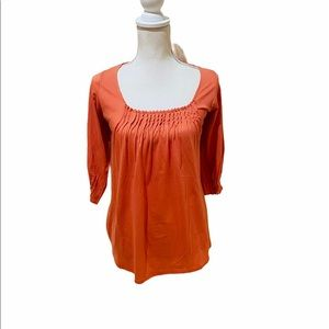 NWT Blisslivinglounge modal cotton pin tuck top